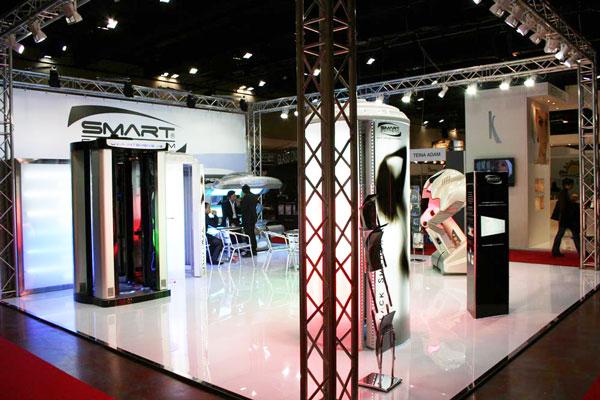 Lo stand smart solarium alla fiera nouvelle esthetiques di Milano